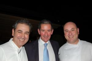 L-R Benet Vicens, Jaime Caceres (Marc Fosh Restaurants) and Tomeu Caldentey