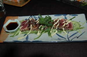 Seared tuna - makes a good starter