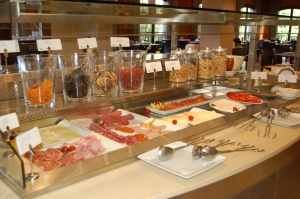 Just part of the breakfast buffet. Photo J Edwards