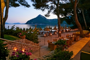 View from the waterfront Hotel Barceló Formentor. (Photo courtesy of hotel)
