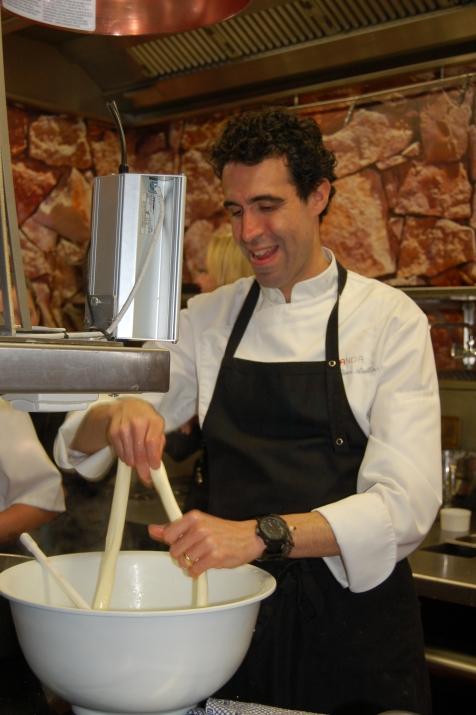 Making burrata
