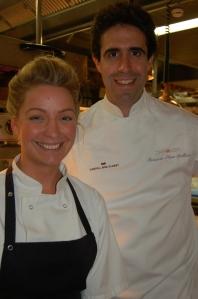 Claire Hutchings with Fernando Perez Arellano