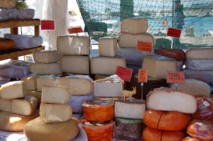 Say cheese! Local cheeses on sale at the cuttlefish fair
