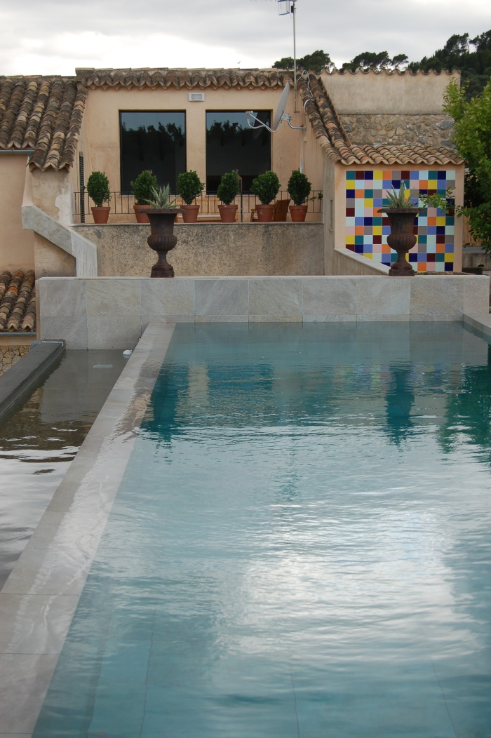 View across pool to suite's private terrace.