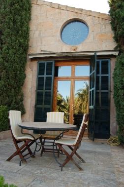 Terrace furniture at Es Revellar