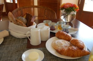 Breakfast pastries from the onsite bakery.