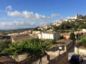 View of the village of Selva from Petit Hotel Son Arnau