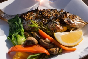 Thai-style fresh sea bream with vegetables