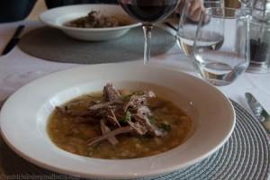 Lamb and lentils.