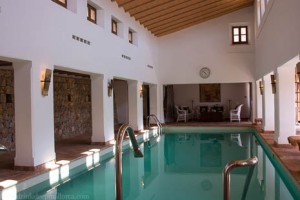 Indoor swimming pool at Belmond La Residencia