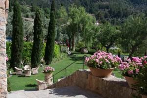 Gardens at La Residencia in Deia.