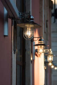 External wall lights.