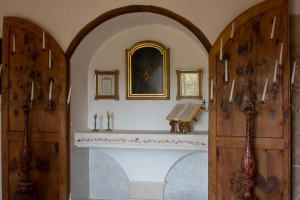 The mini-chapel at Finca Hotel Can Estades
