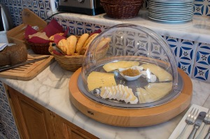 . . . and cheeses with home-made preserve.