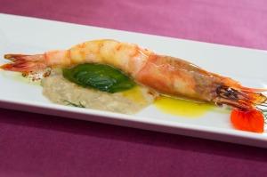 Andreu's shrimp dish.