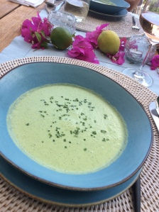 Chilled summer soup.