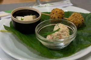 Other dishes from the first 'act'.