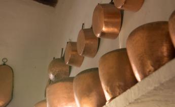 Copper kitchen pans