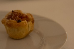 Couldn't resist a little pumpkin tartlet too . . .