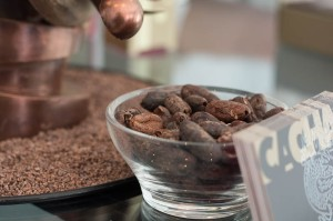 Raw cocoa beans.