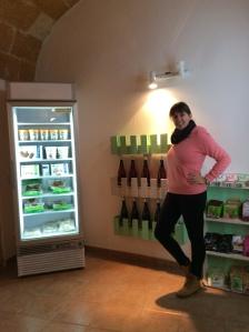 Patricia González in her new shop Veganana.