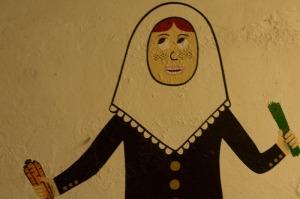 Wall painting at Ca Na Toneta in Caimari