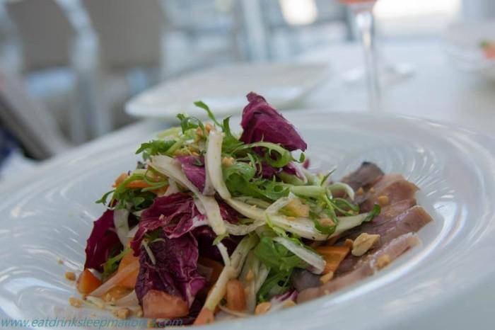 Marinated mackerel salad.