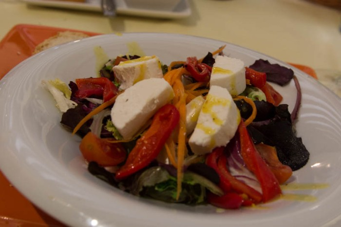 My goat's cheese salad starter.