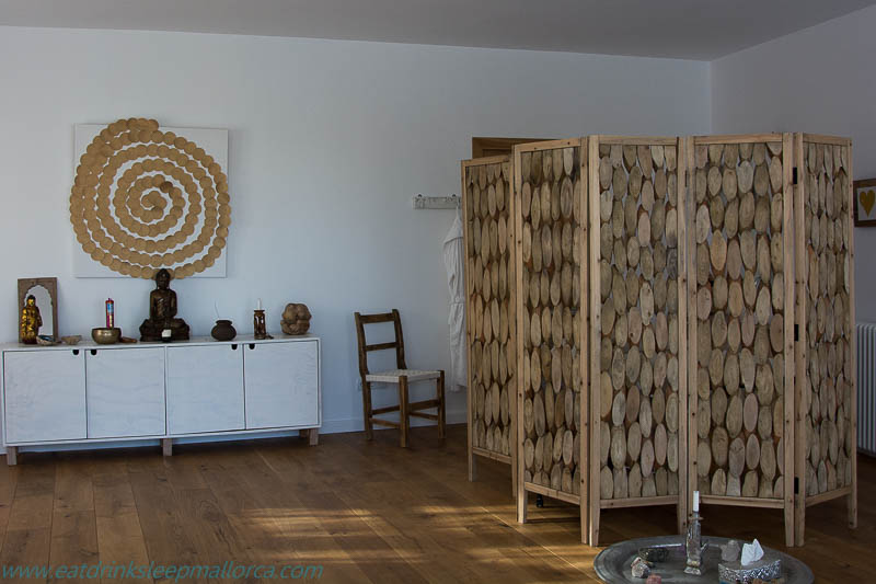 Space for yoga and treatments.