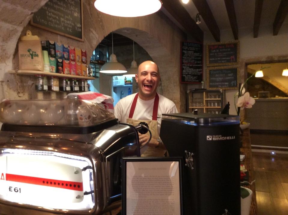 Martin at the counter.