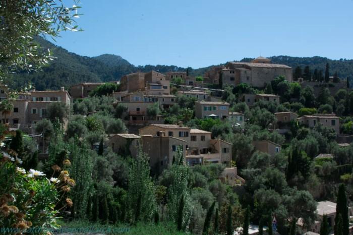 Deià village views