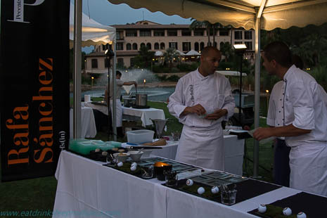 Rafa, left, is from Michelin-starred Es Fum at St Regis Mardavall Mallorca Resort