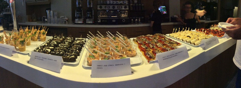 A delicious array of tapas for the event at El Palau Cafe