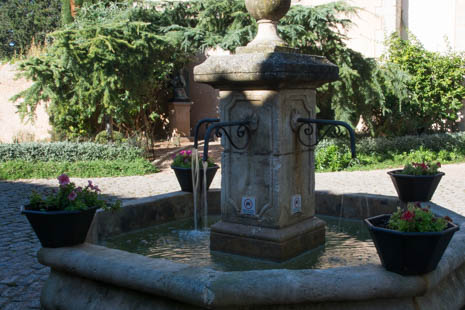 Water - not wine!- flows from the hamlet fountain.