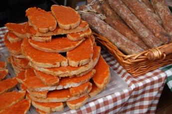 Sobrasada on Mallorcan bread