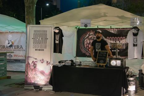 Boscana Cervesa Evolutiva stall in Manacor