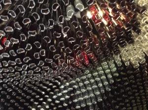 Glass bottle ceiling