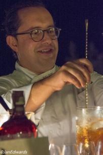 Cocktail making.