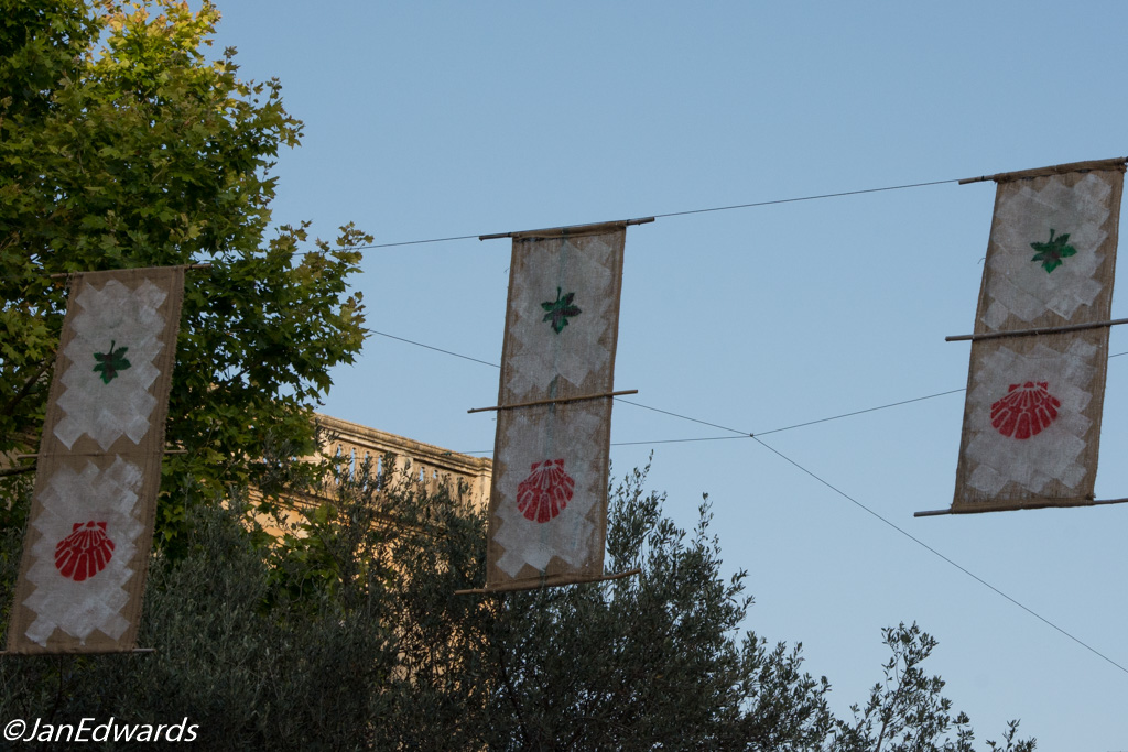 Home-made street decorations