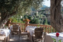 Restaurant terrace at Belmond La Residencia