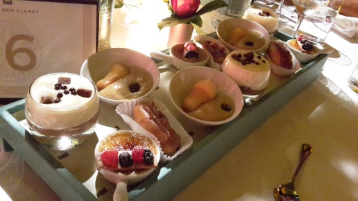 Selection of mini desserts