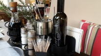 Andreu Genestra's olive oil at Bistro Senzill