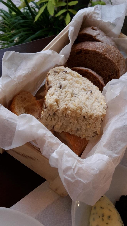 Bread basket at Bistro Senzill
