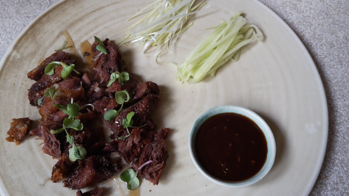 Chinese-style crispy duck