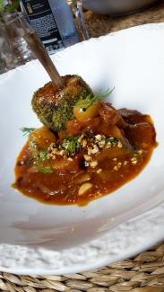 Chicken dish at Aromata