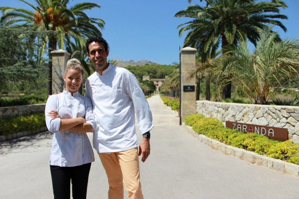 Claire Hutchings and Fernando P Arellano at Castell Son Claret