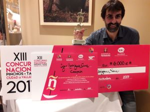 Igor Rodriguez wins pinchos and tapa competition 2017