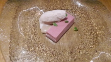 Dessert of strawberry mousse