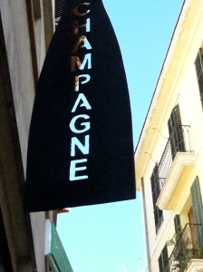 Champagne sign in Palma