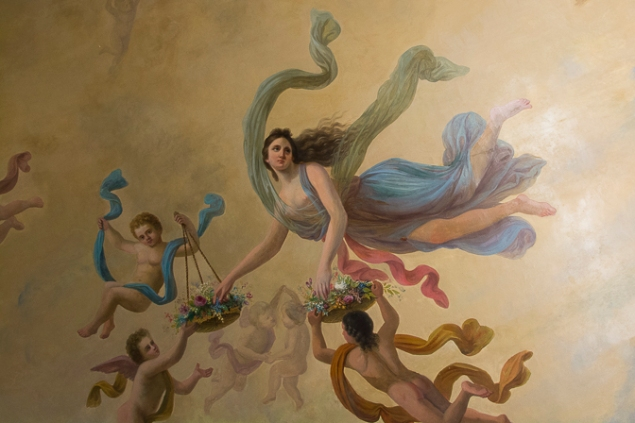19th-century ceiling painting by Francesc Parietti